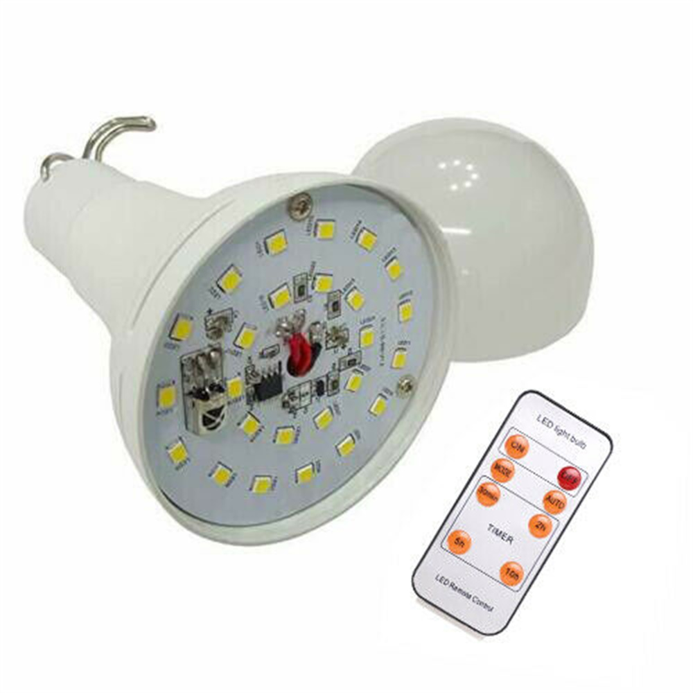 9w Solar Powered Shed Light Hang Up Bulb Chicken Coop Remote Control