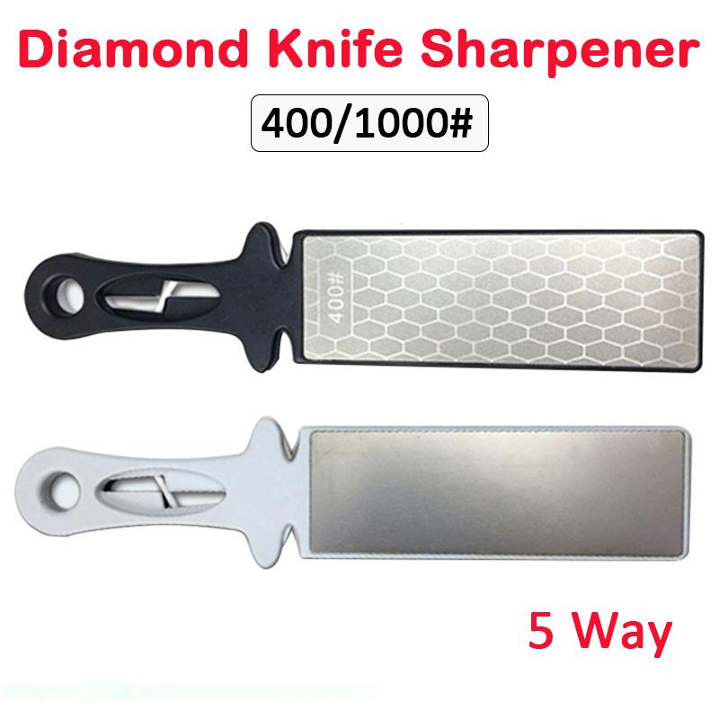 Diamond Sharpening Stone Whetstone Cutter Sharpener 4 Grit Sides Tool