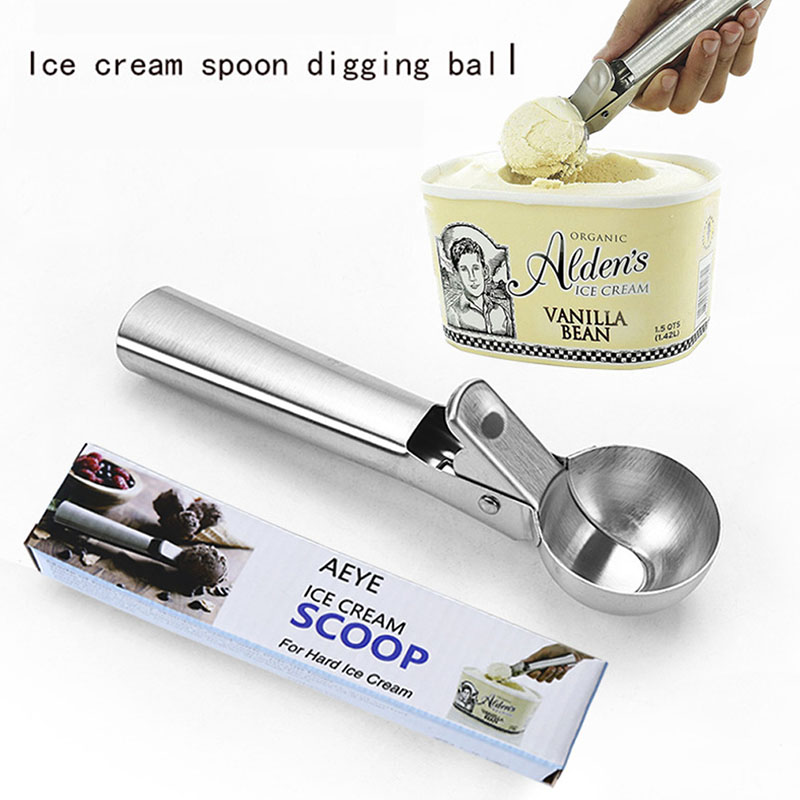 Ice Cream Scoop Cookie Dough Disher Ice Cream Ball Mold Spoon Kitchen Tool