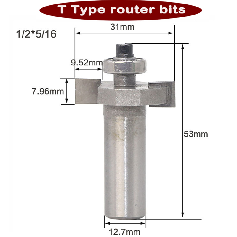 """1//4/"""" Shank Tool Biscuit Joint Cutter Router Bits /""""T/"""" Type Biscuit Joiner"""