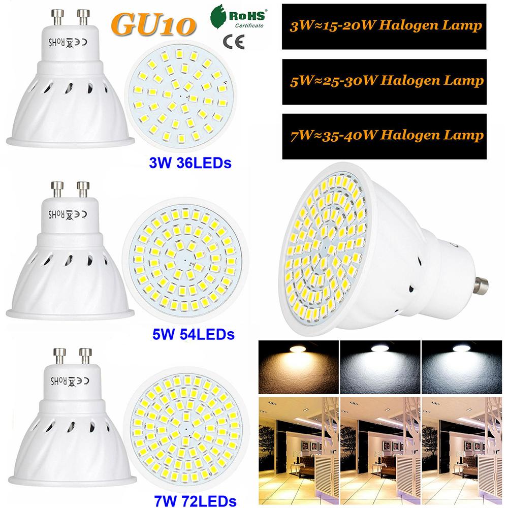 DE 10X AC//DC12V-24V LED GU10 Glühbirne LED Birne Leuchtmittel Lampe 3W//5W//7W