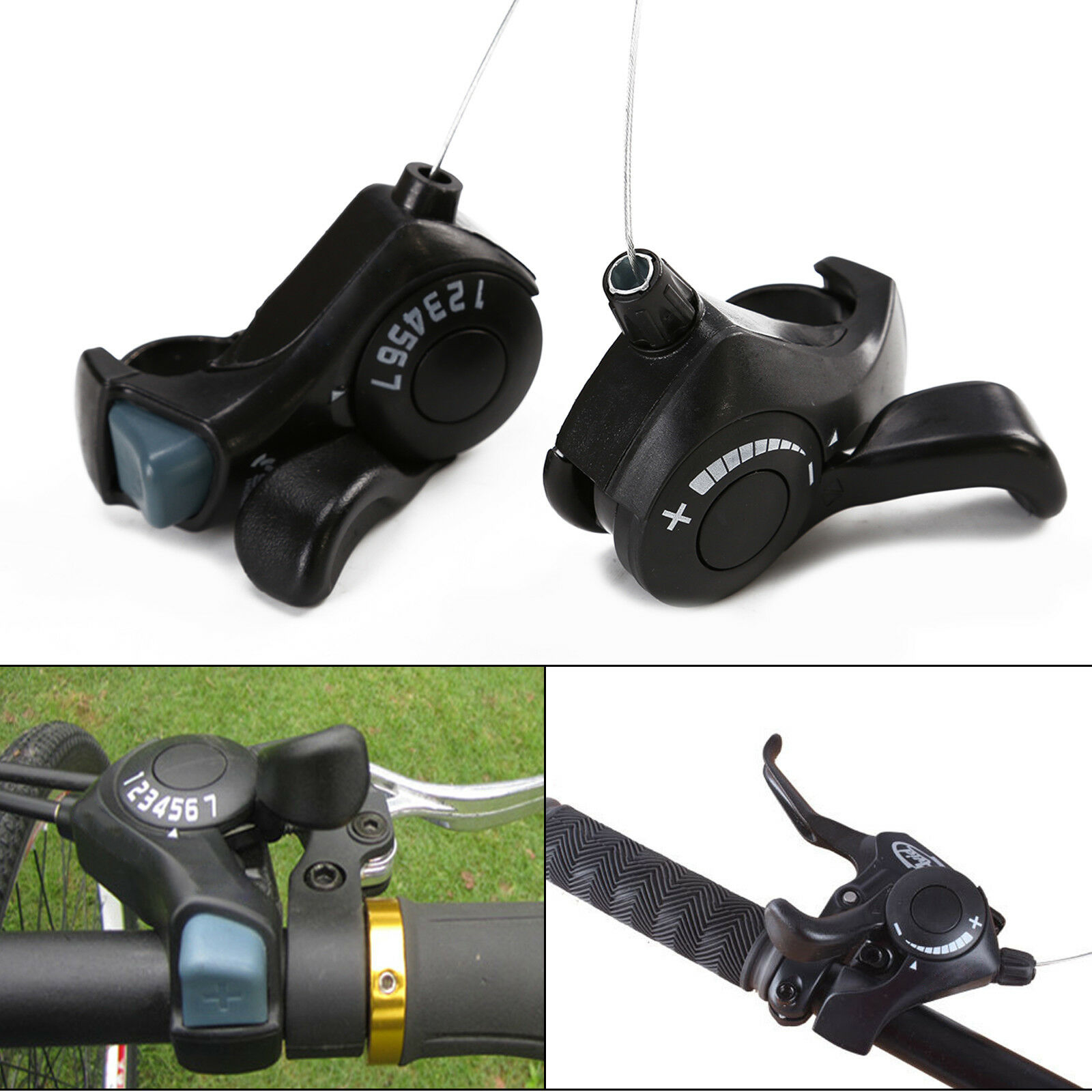 3x7 21 Speed Thumb Gear Shifters MTB Mountain Bike Bicycle Shift Lever Durable
