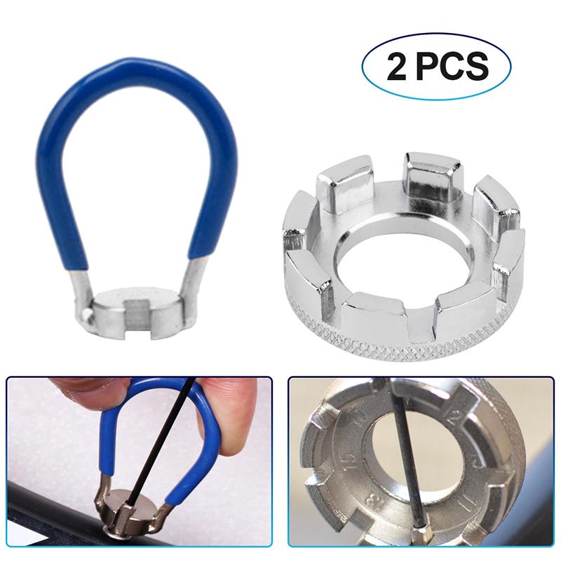 Bicycle Spoke Wrench Detach Spoke Key Spanner 14g Nipple 360° Rotation-Fix-Part*