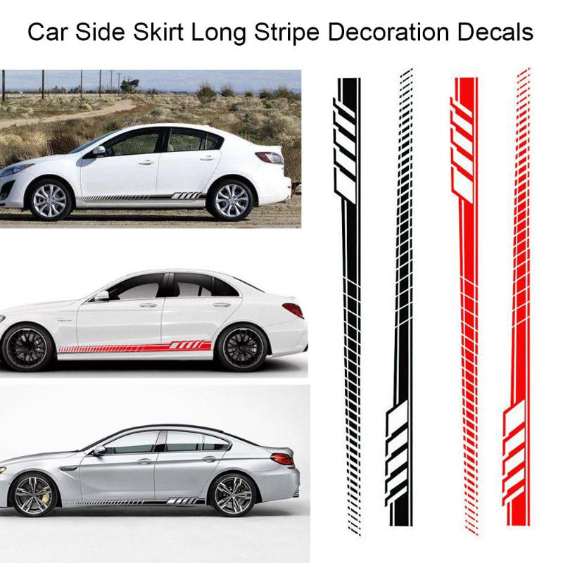 Car Side Body Long Stripe Flame Vinyl Decal DIY Decoration Sticker Waterproof