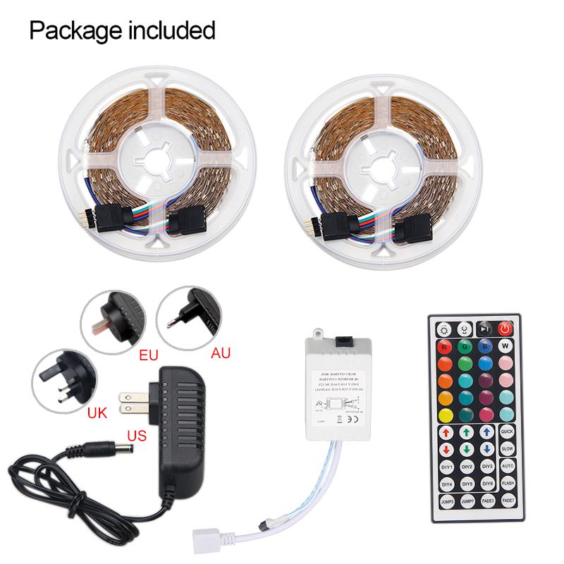 49ft 15m 3528 Rgb Smd 900 Led Light Strip Flexible Ribbon Tape Lamp 12v Tv Party Ebay