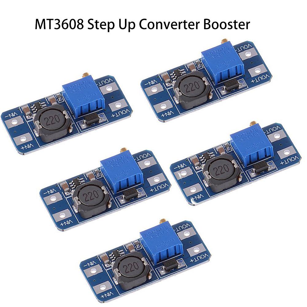 2pcs MT3608 2A Max DC-DC Step Up Adjustable Power Booster Module