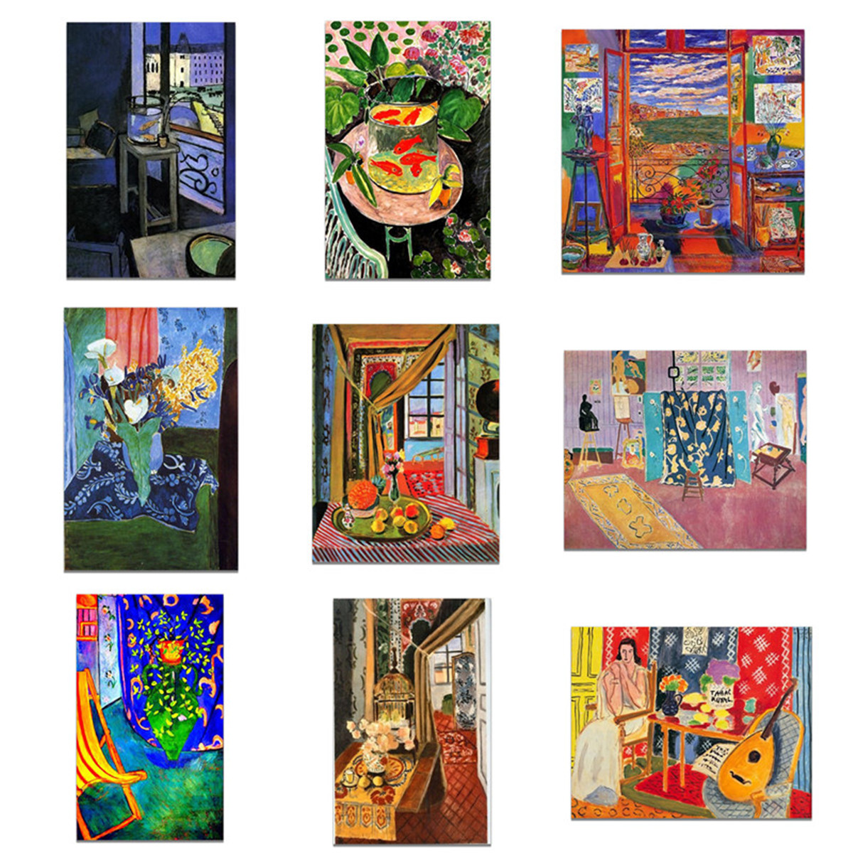 Canvas HD Printed Oil Painting Wall Decor Henri Matisse The Blue Window