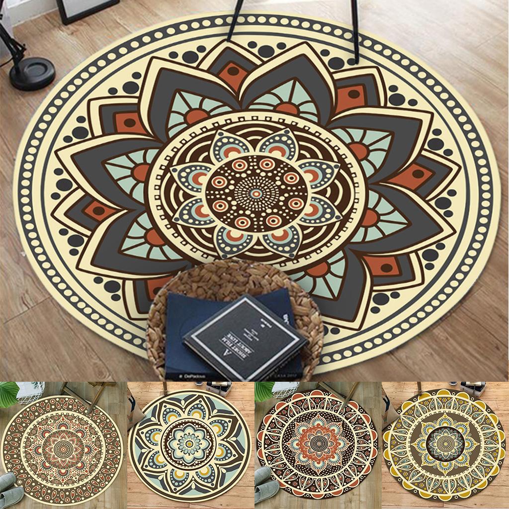 Details About Morocco Round Area Rug Floor Carpet Living Room Bedroom Velvet Soft Rug 50 50cm