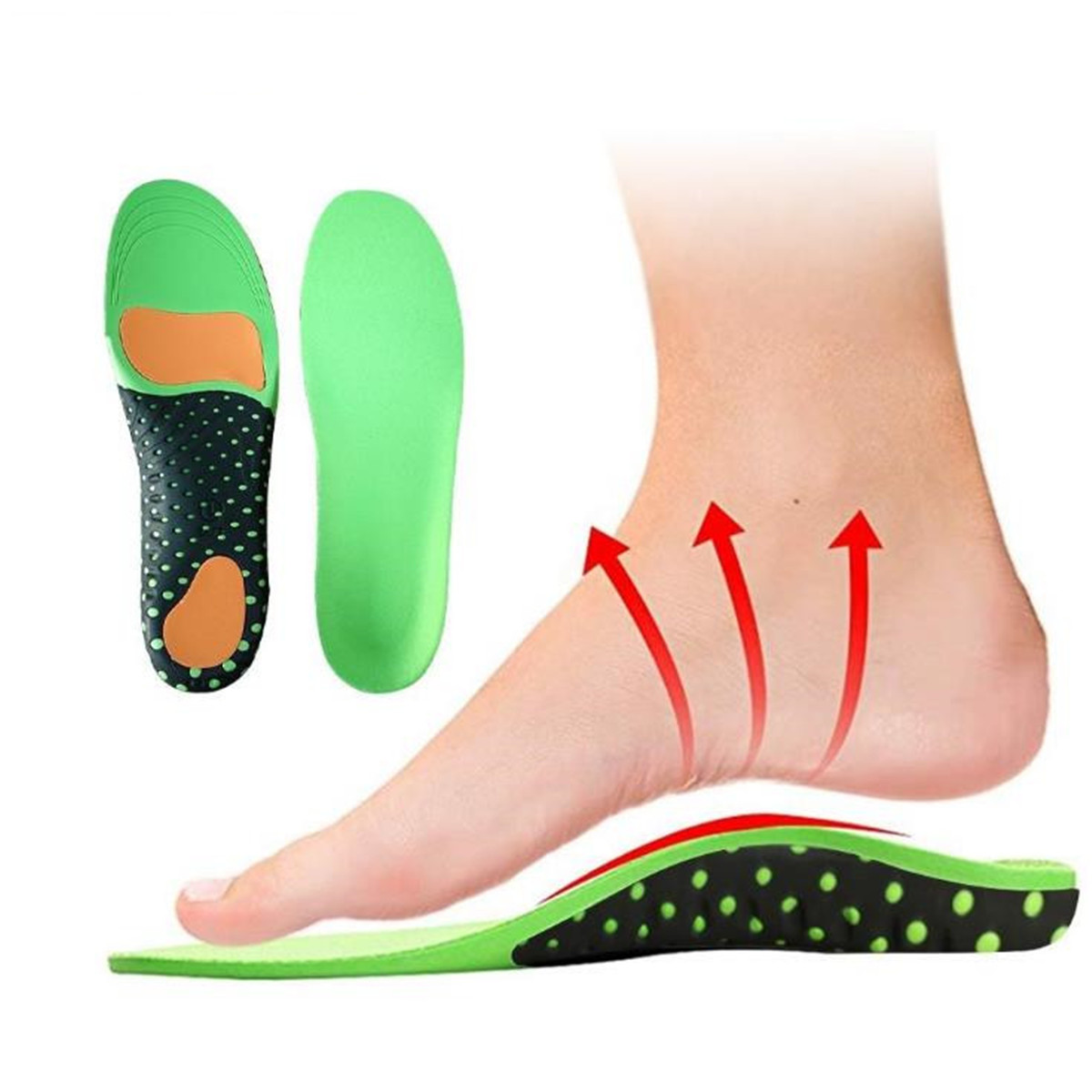 3D Orthotic Flat Feet Foot High Arch Gel Heel Support Shoe Inserts Insole Pad 20