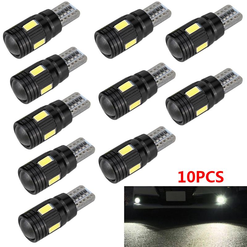 10X T10 5730 LED Standlicht Canbus Fehlerfrei 6-SMD Seitenlicht Lampe Weiß Birne