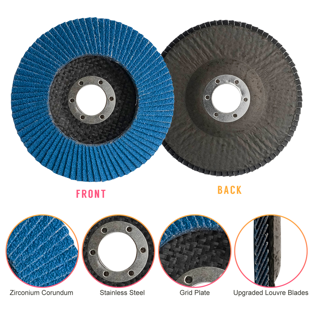 "20x 4.5/"" 120 GRIT FLAP WHEELS ZIRCONIA SANDING GRINDING DISC ANGLE GRINDER 115mm"