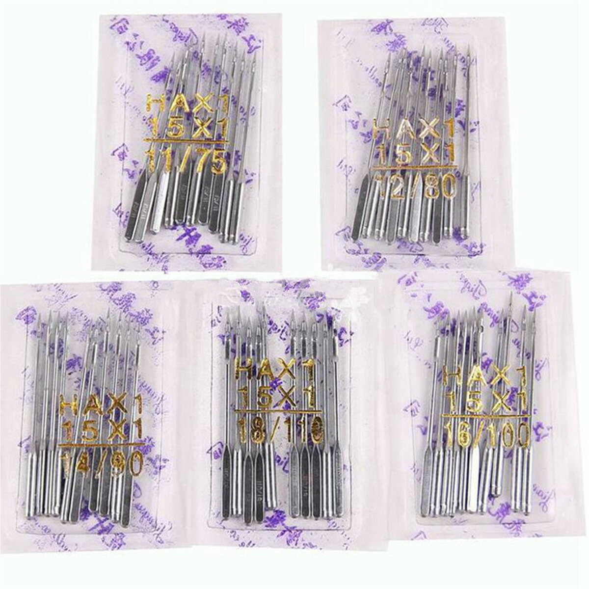 10pc Sewing Machine Needles UNIVERSAL 90//14 100//16 110//18 Fits All Brands