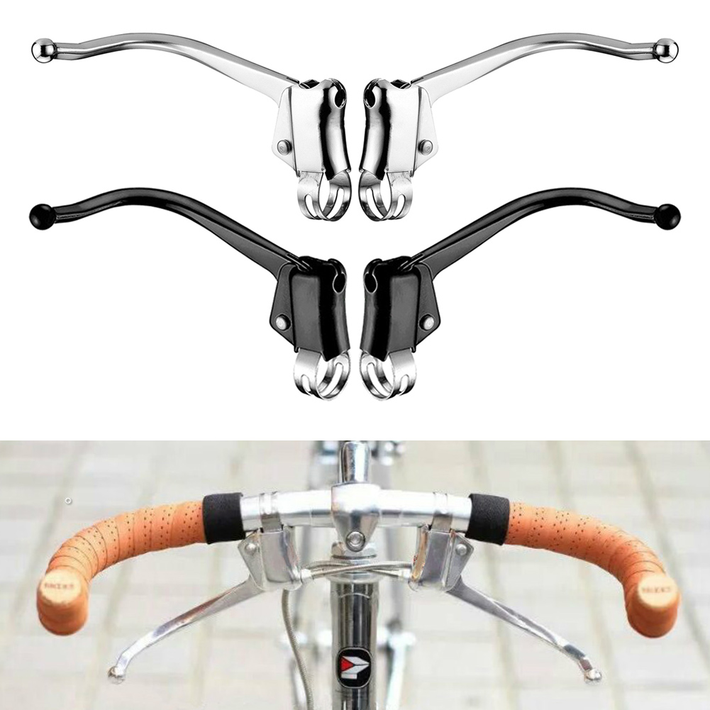 ZTTO 1 Pair Road Bike Brake Levers Bicycle Fixed Gear Deputy Vice Brake 22.2mm
