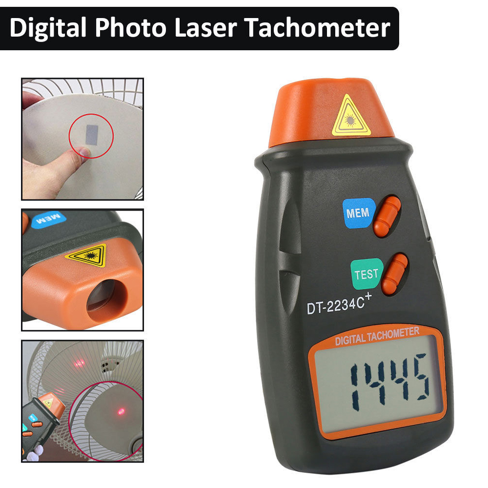 TL-900 Berührungslos Laser Digitale Tachometer Drehzahlmesser Messung Meter