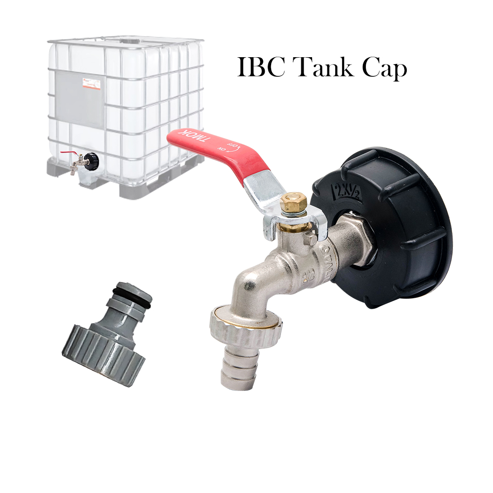 """IBC Tank to 1//2/""""Yard Garden Water Tap Hose Connector Adapter Fittings Tool S60X6"""