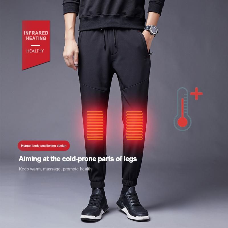 Electric USB Winter Heated Warm Pants Trousers Heating Fleece Skiing Warmer Men