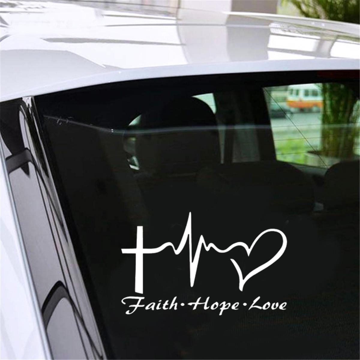 HAVE FAITH Vinyl Decal Sticker Car Window Wall Bumper God Jesus Peace Hope Love