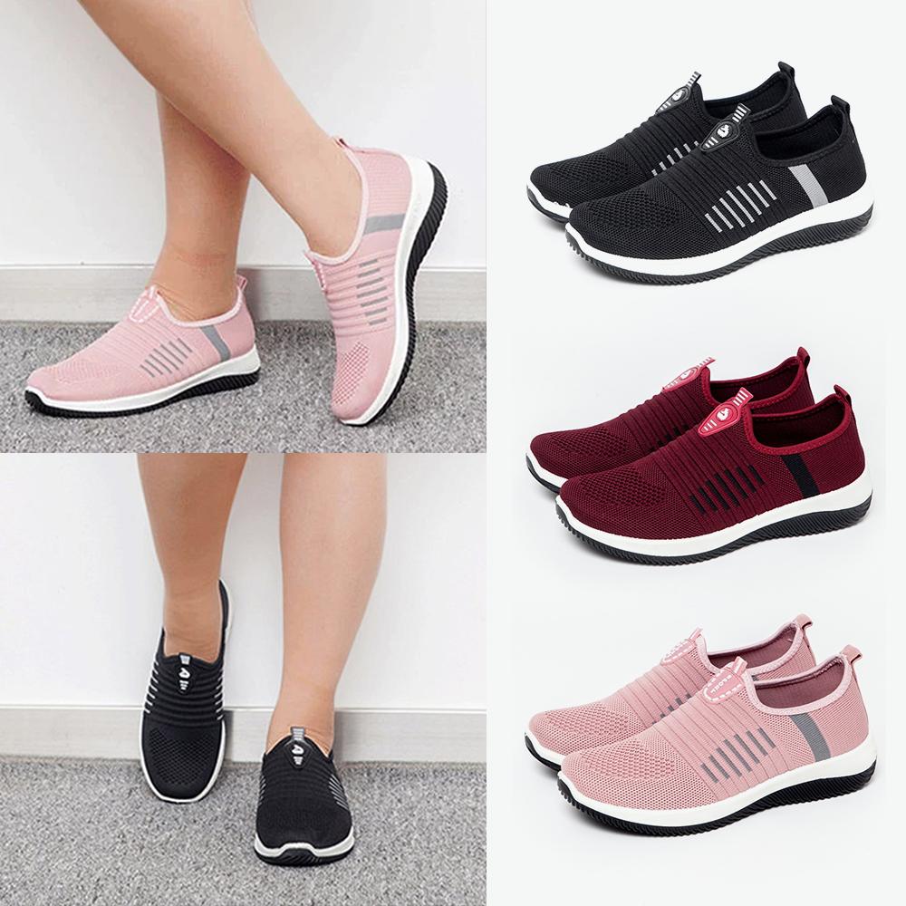 Details zu Damen Stretch Bequeme Sneaker Turnschuhe Laufschuhe Sockenschuhe Freizeitschuhe