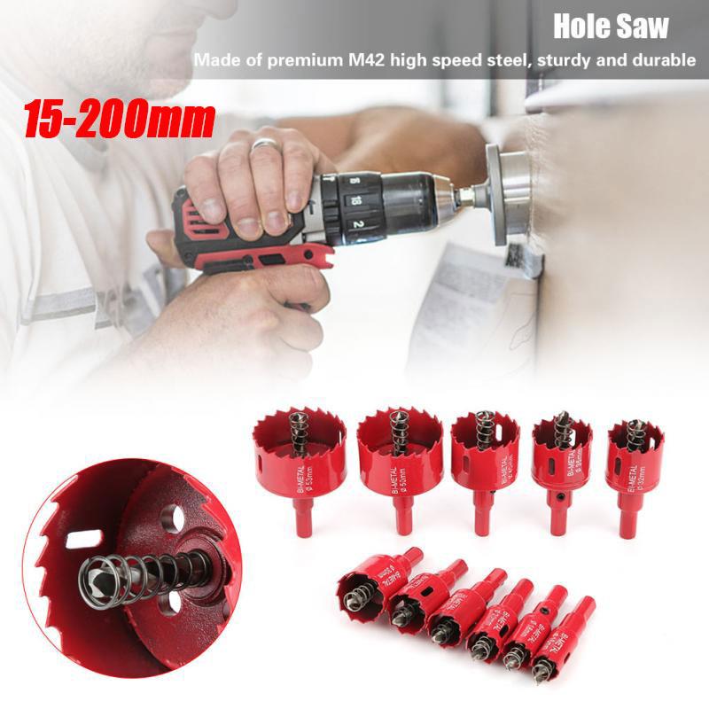 15-200mm Bi Metal M42 HSS Hole Saw Cutter Drill Bit For Aluminum Iron Pipe Wood